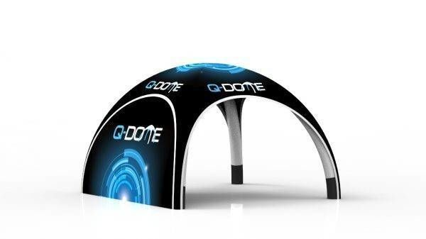 Q-dome inflatable tent